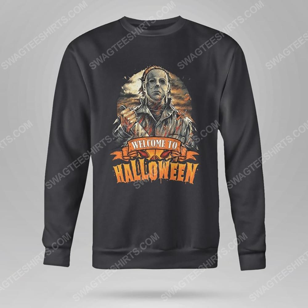 Vintage michael myers welcome to halloween sweatshirt(1)
