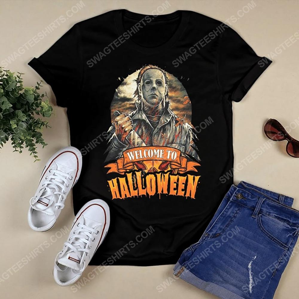 Vintage michael myers welcome to halloween tshirt(1)