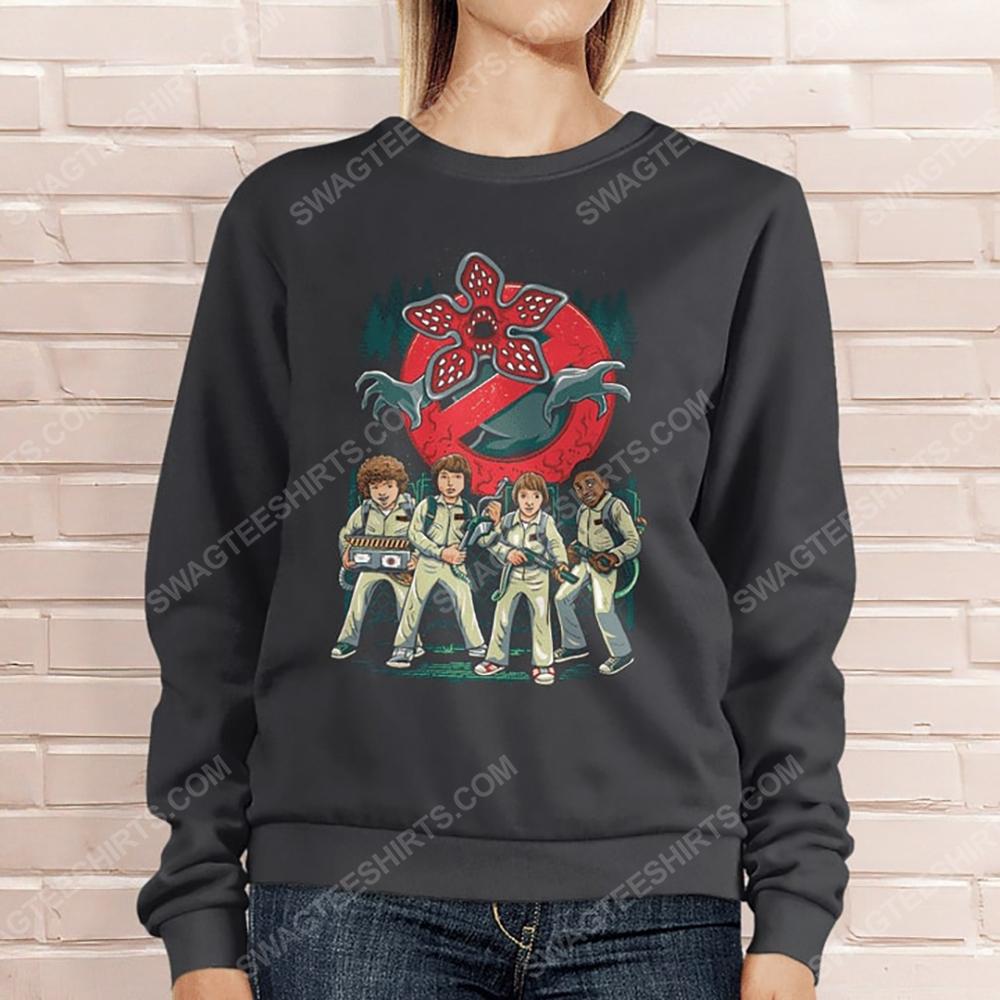 Vintage stranger things and ghostbusters sweatshirt 1(1)
