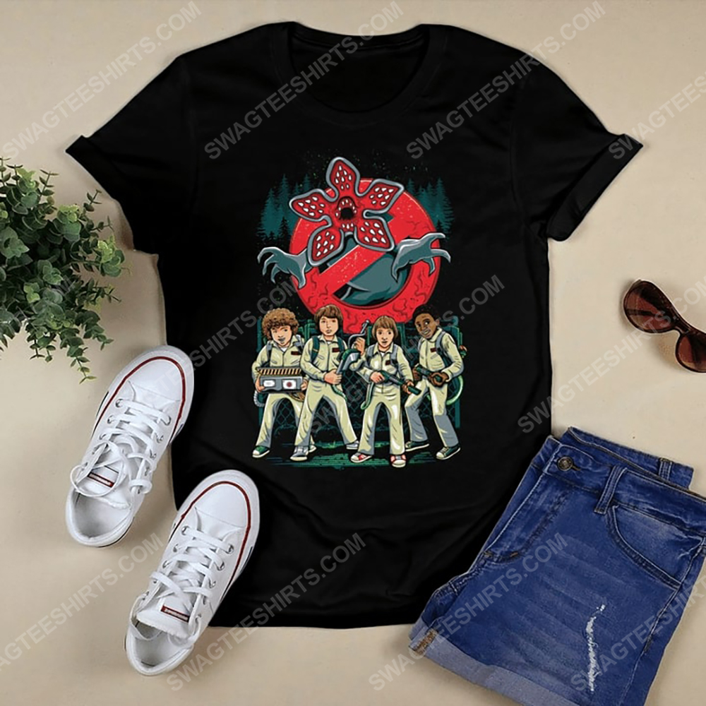 Vintage stranger things and ghostbusters tshirt 1