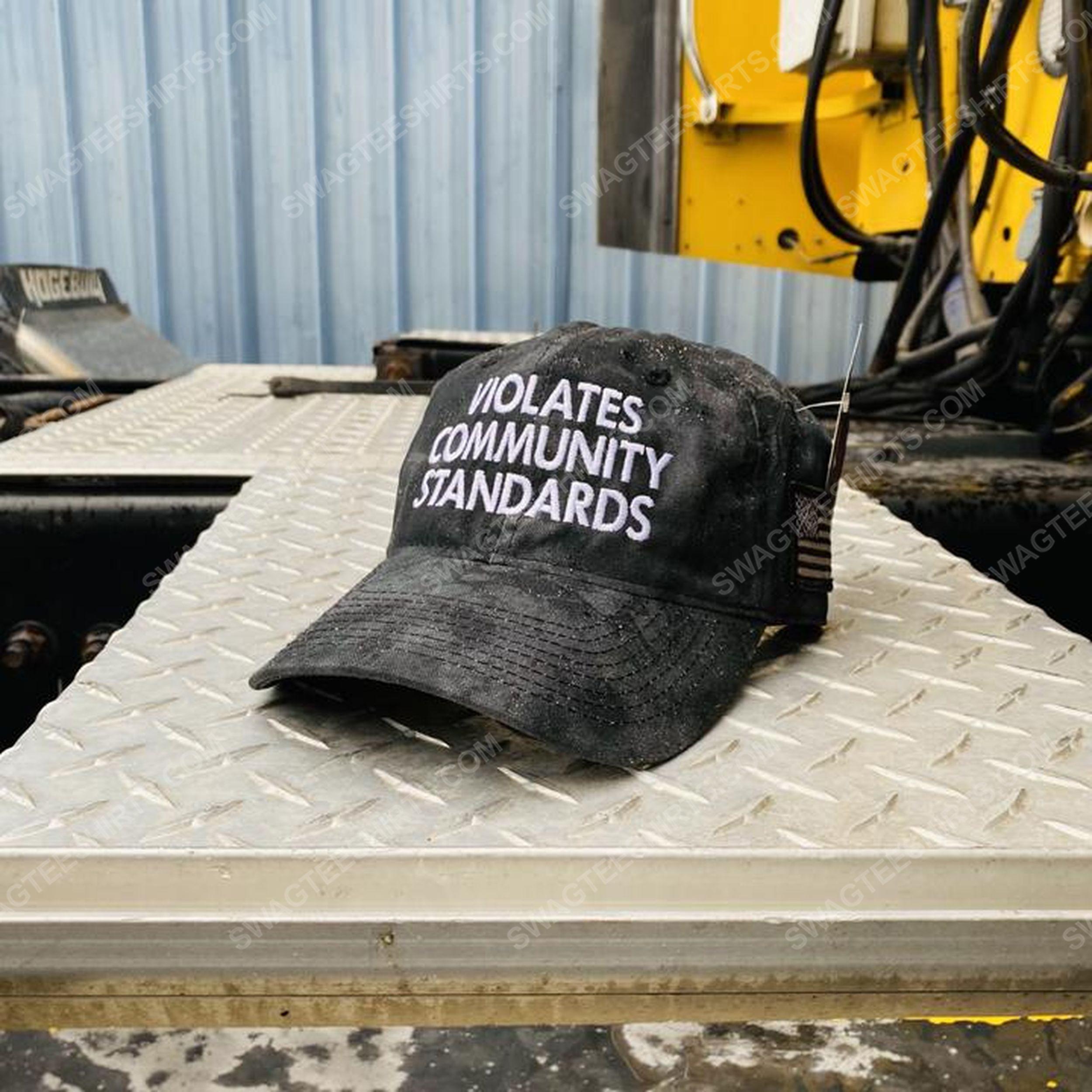 Violates community standards full print classic hat 1