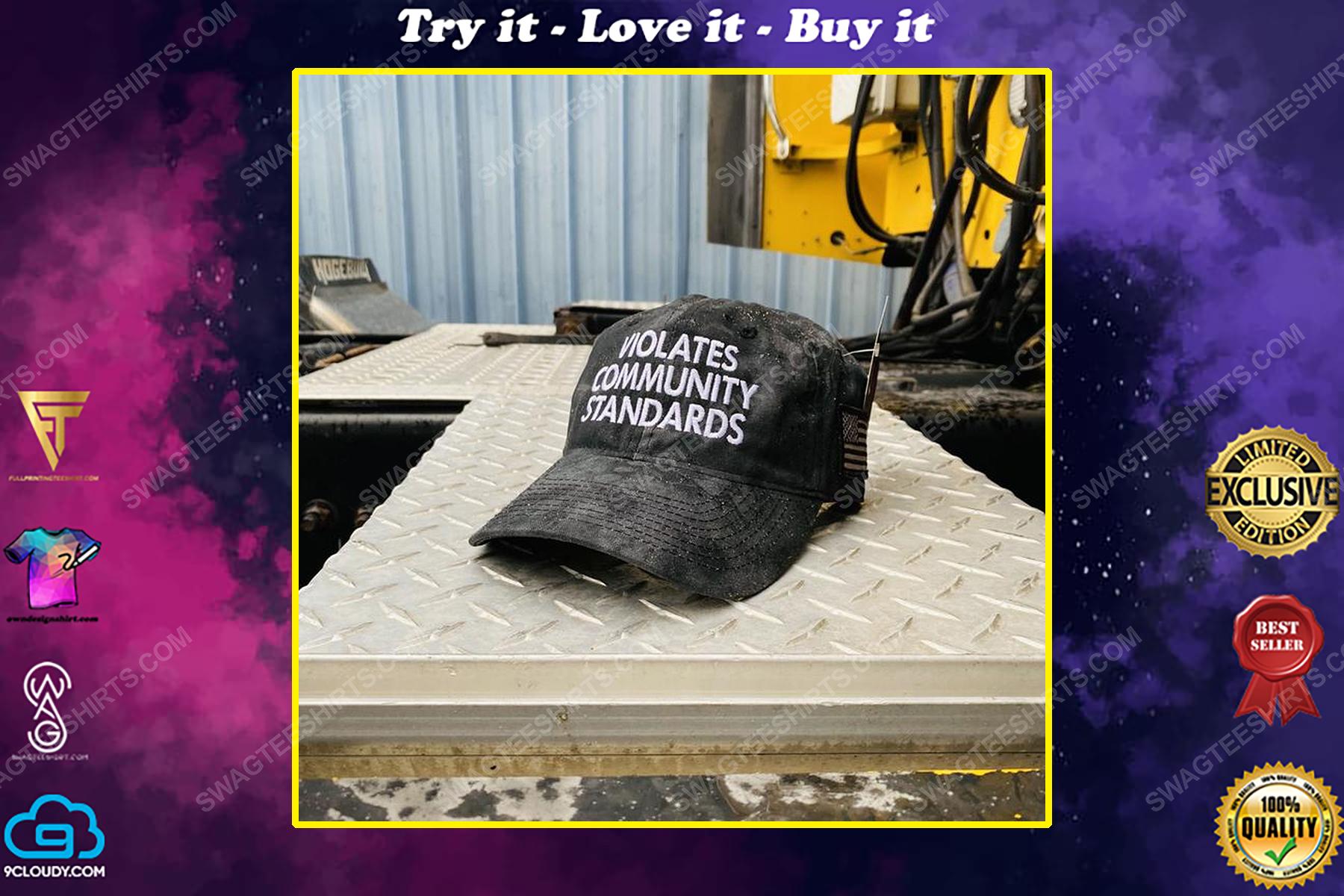 Violates community standards full print classic hat