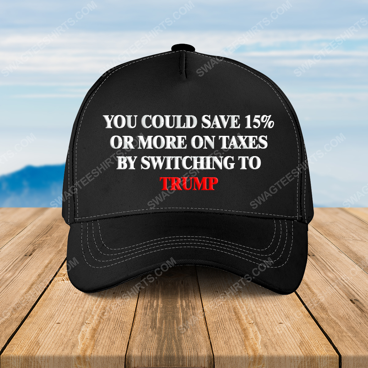 You could save 15 percent or more on taxes by switching to trump full print classic hat 1