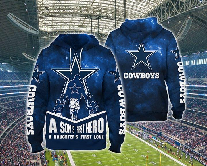 a sons first hero a daughters first love dallas cowboys full over printed hoodie 1