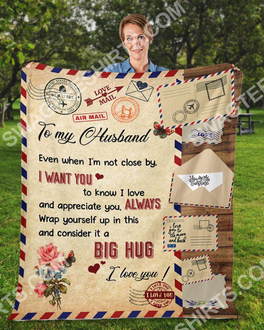 air mail to my husband i want you i love you blanket 2(1)