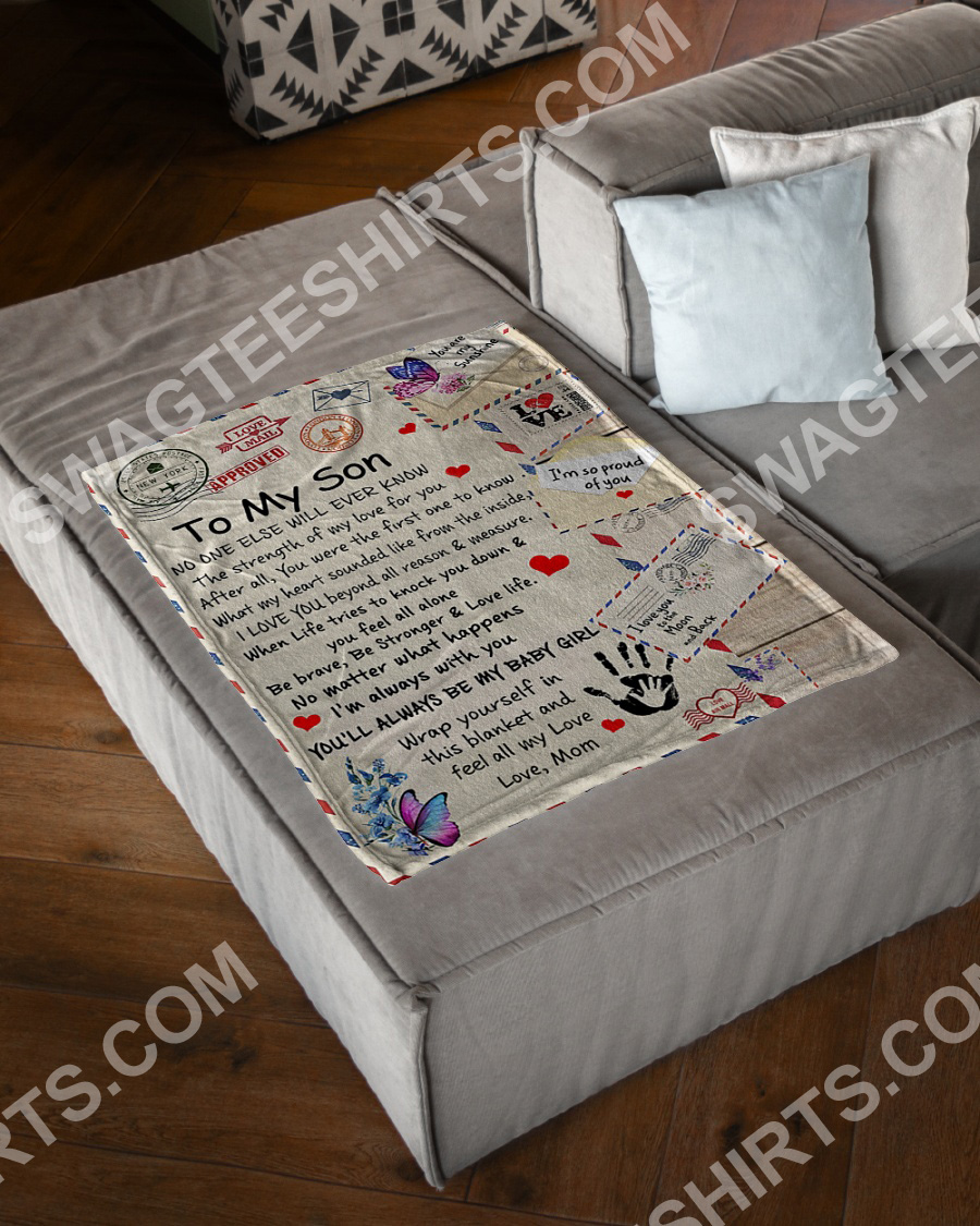 air mail to my son be strong and love life your mom blanket 3(1)