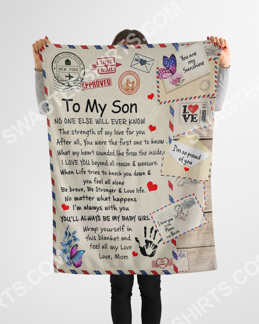 air mail to my son be strong and love life your mom blanket 4(1)