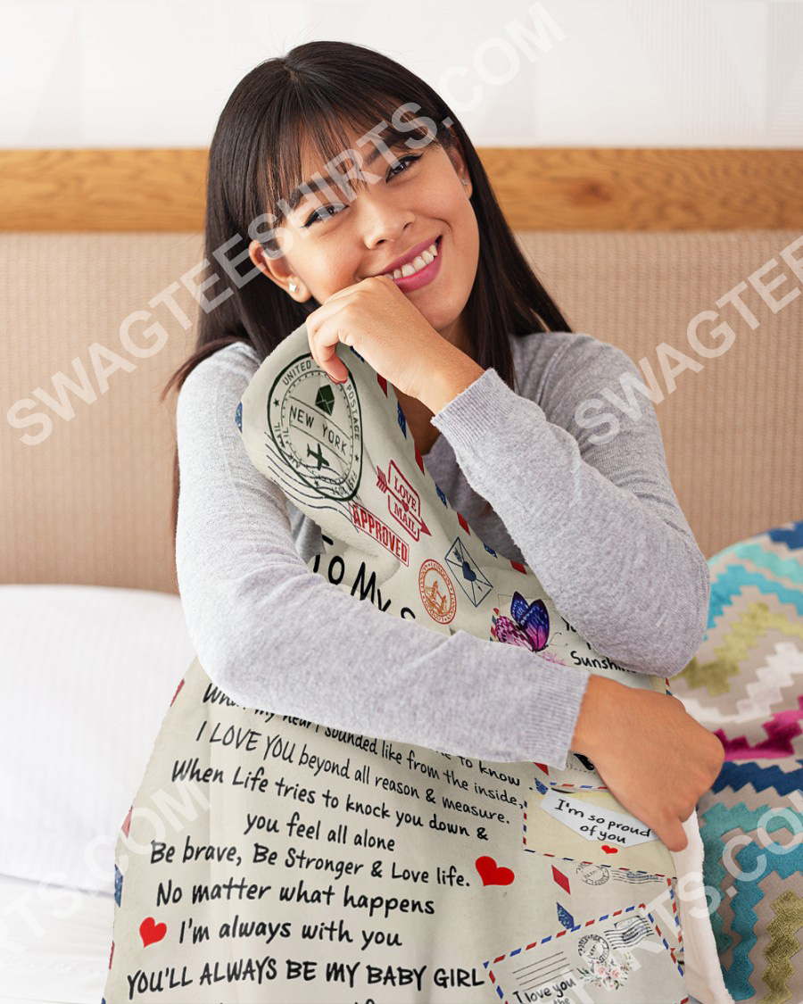 air mail to my son be strong and love life your mom blanket 5(1)