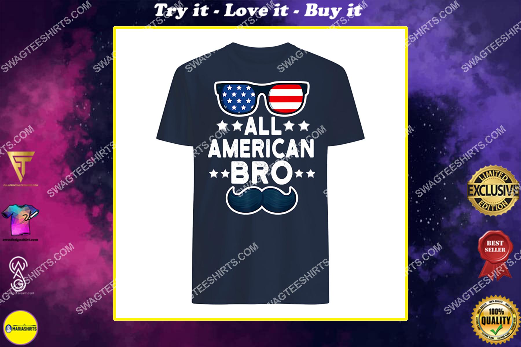 all american bro 4th of july boys kids sunglasses family shirt