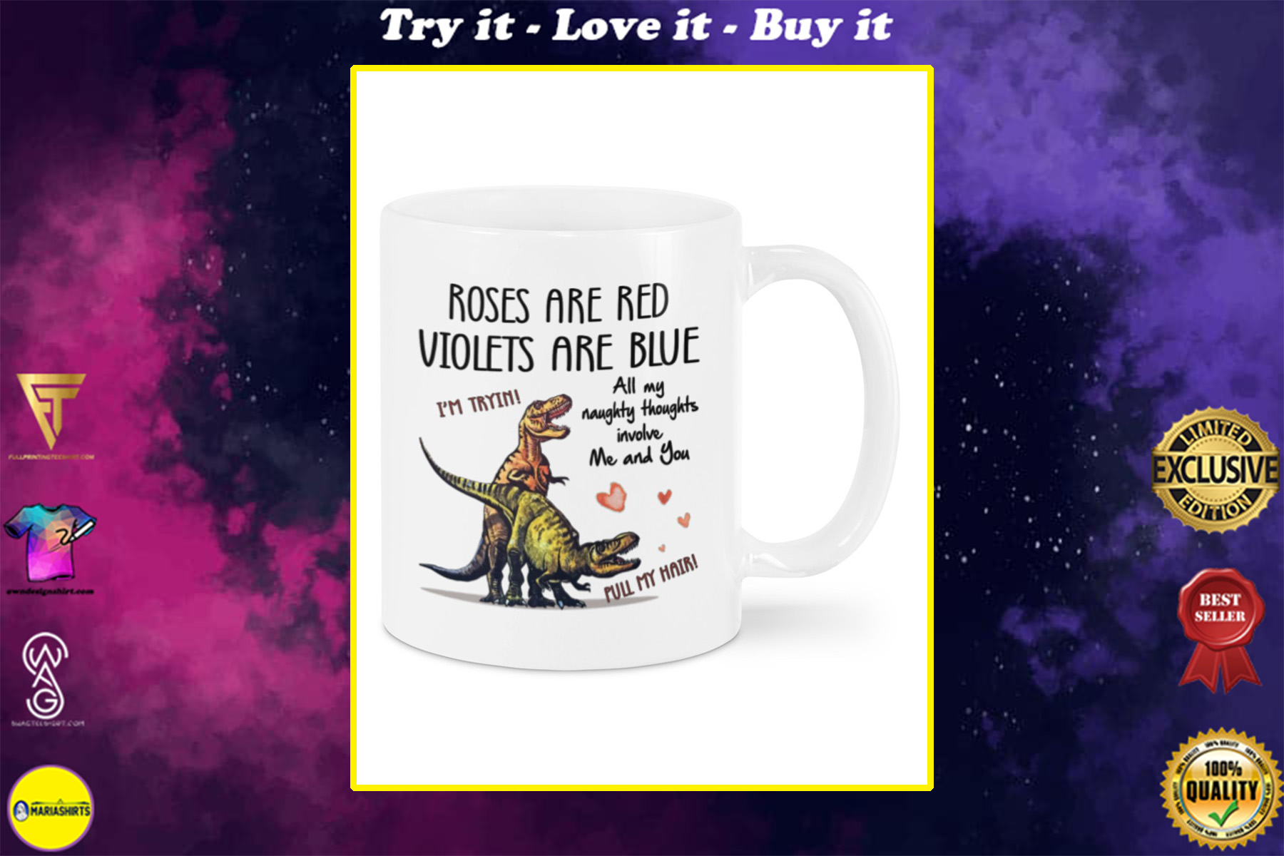 all my naughty thoughts involve me and you im trying pull my hair mug