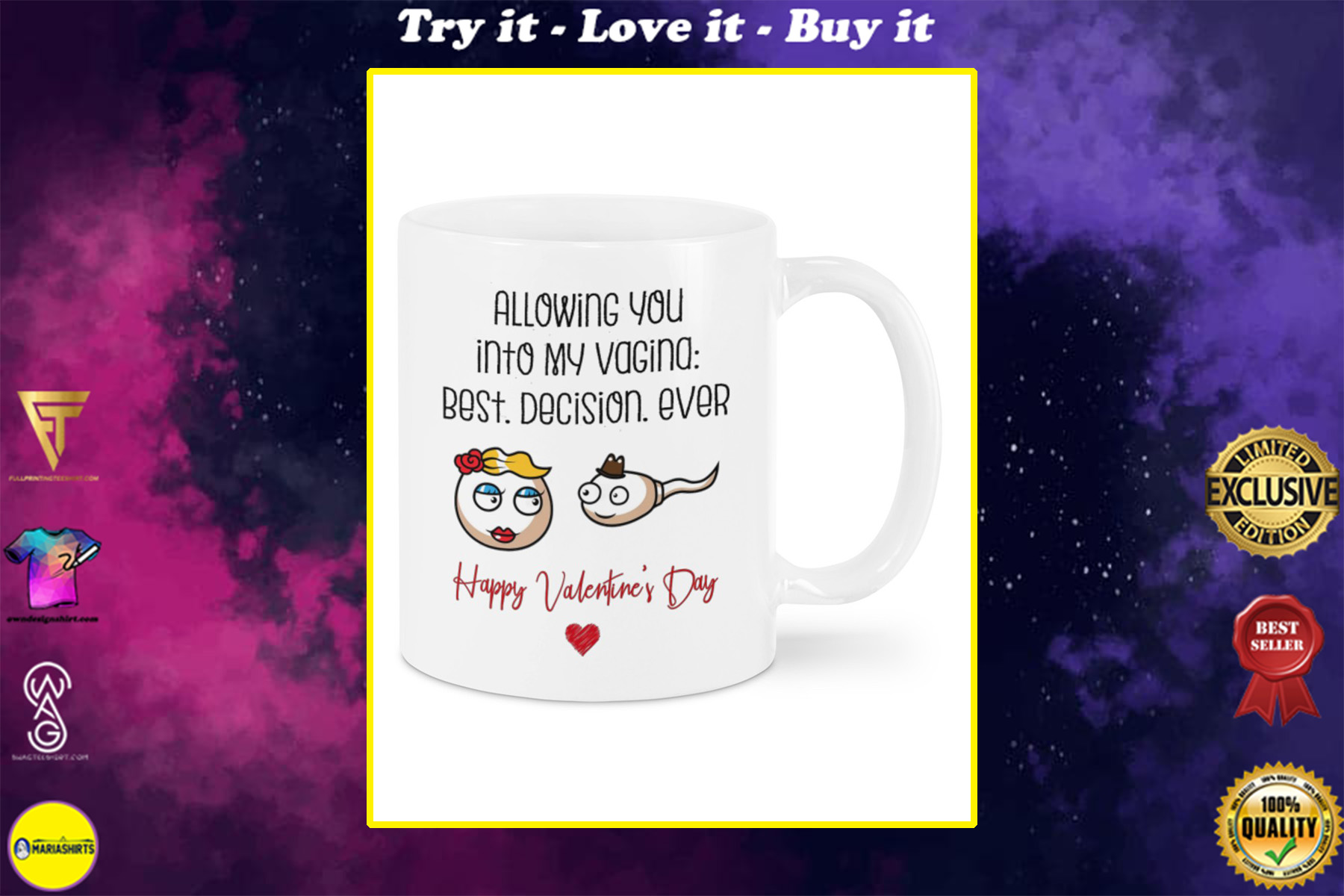 allowing you into my vagina best decision ever happy valentine's day mug