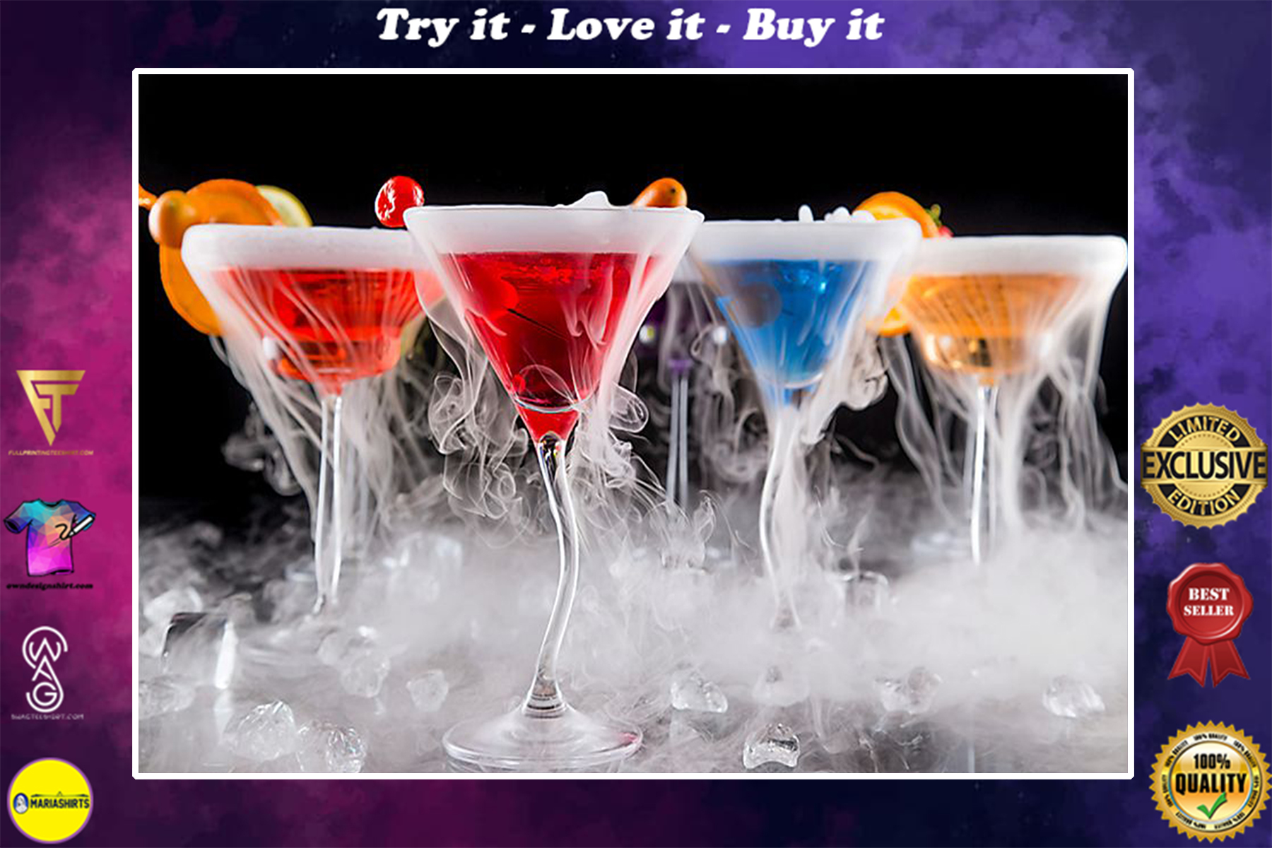 amazing cocktail colorful bartender poster