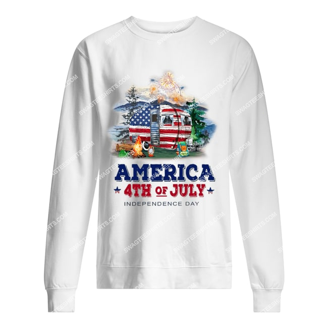 america 4th of july independence day for camping sweatshirt 1