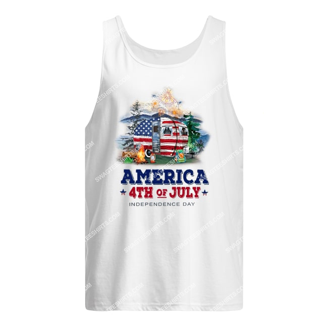 america 4th of july independence day for camping tank top 1