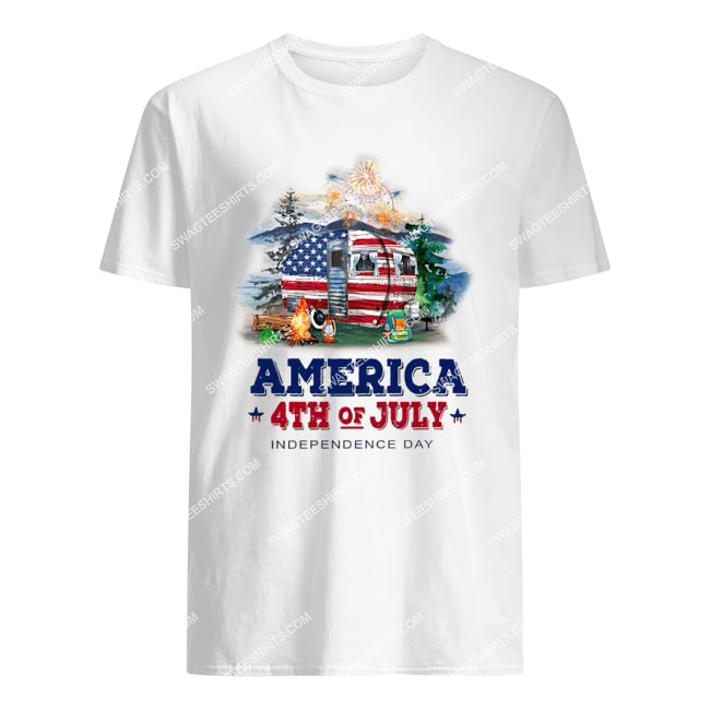 america 4th of july independence day for camping tshirt 1