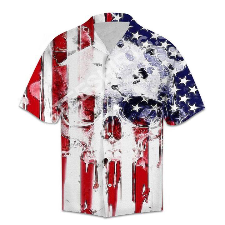 american flag and skull all over printed hawaiian shirt 2(1)