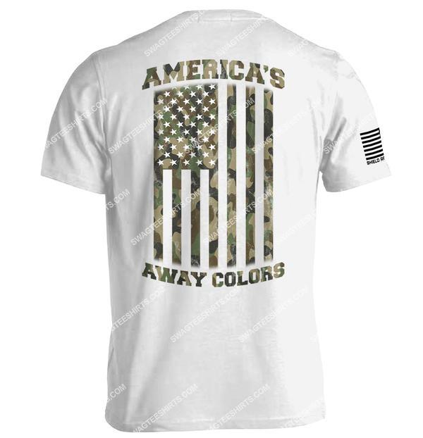 american flag camo americas away colors political shirt 1