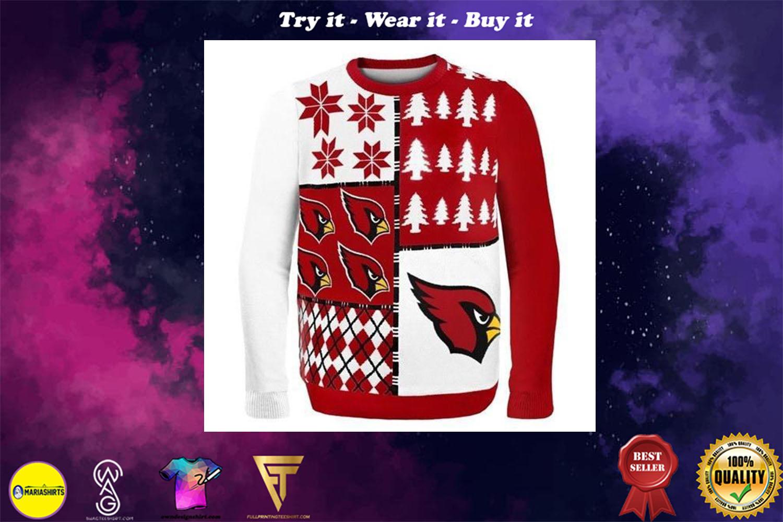 arizona cardinals busy block ugly christmas sweater