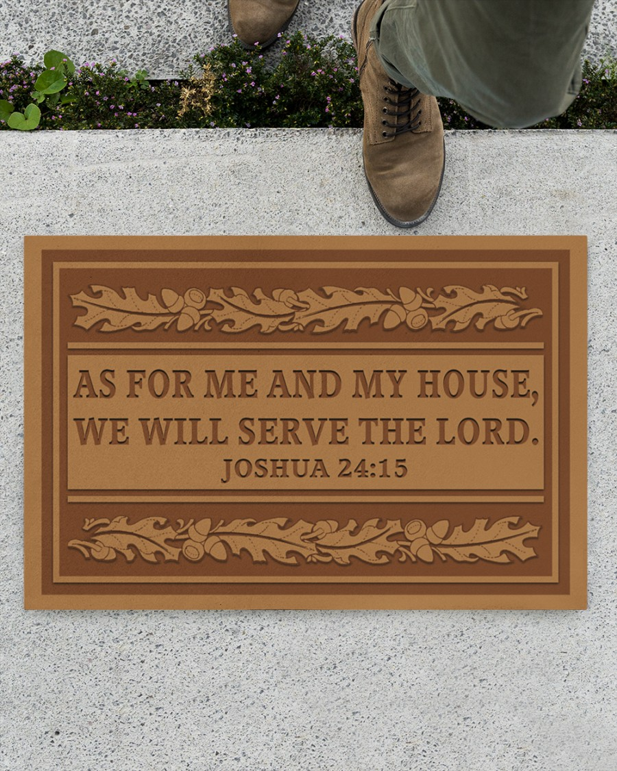 as for me and my house we will serve the lord full printing doormat 2