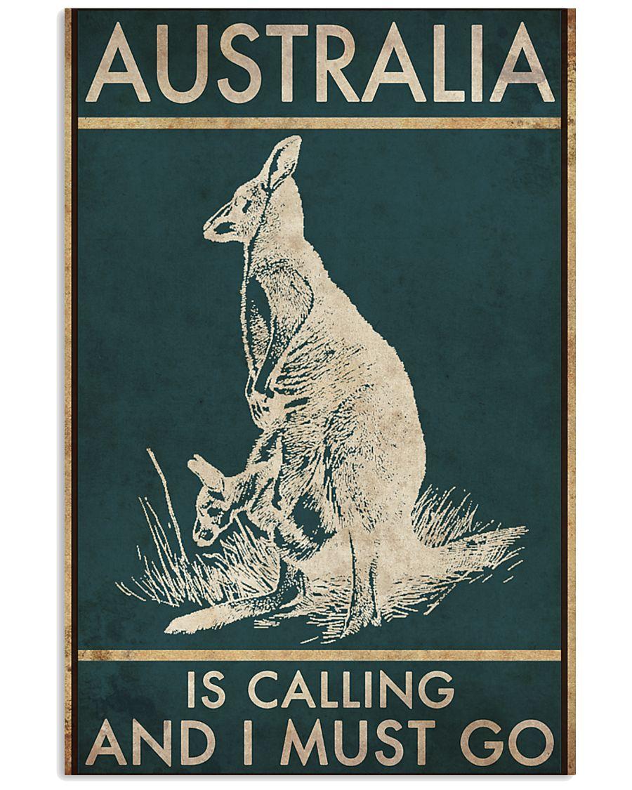 australia is calling and i must go kangaroo vintage poster 1