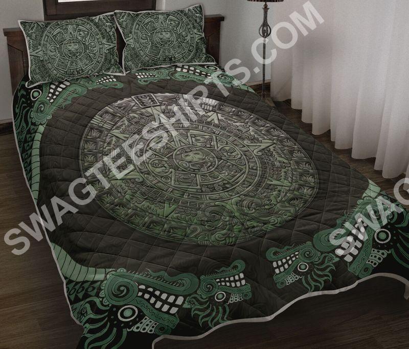 aztec mexican symbols all over printed bedding set 3 - Copy (2)