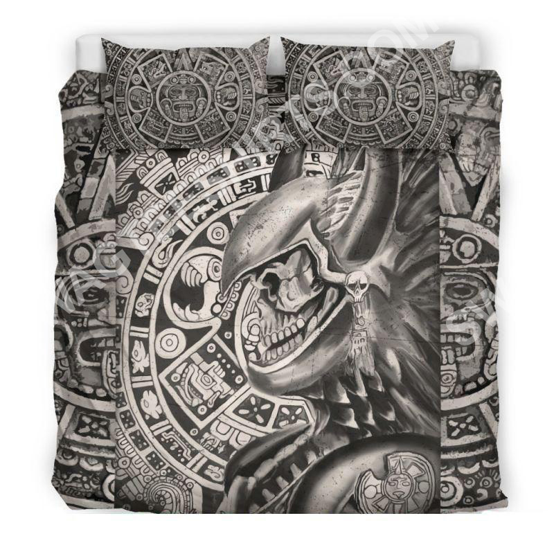 aztec warrior mexican all over printed bedding set 3 - Copy (2)