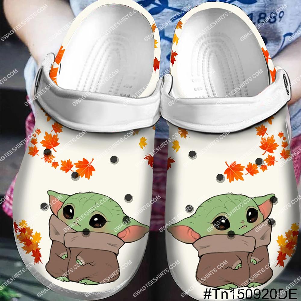 baby yoda all over printed crocs crocband clog - Copy - Copy
