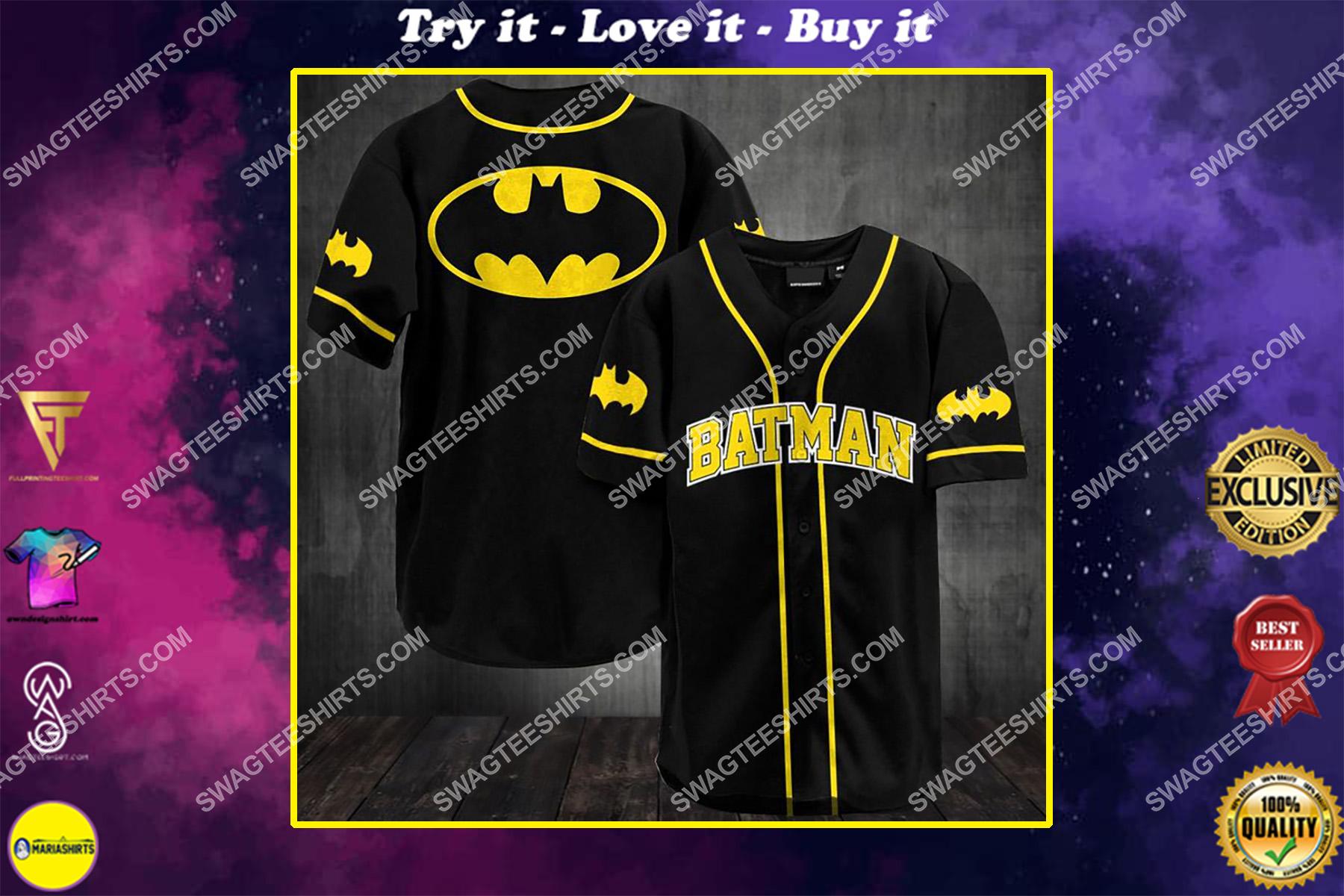 batman movie full printing baseball shirt