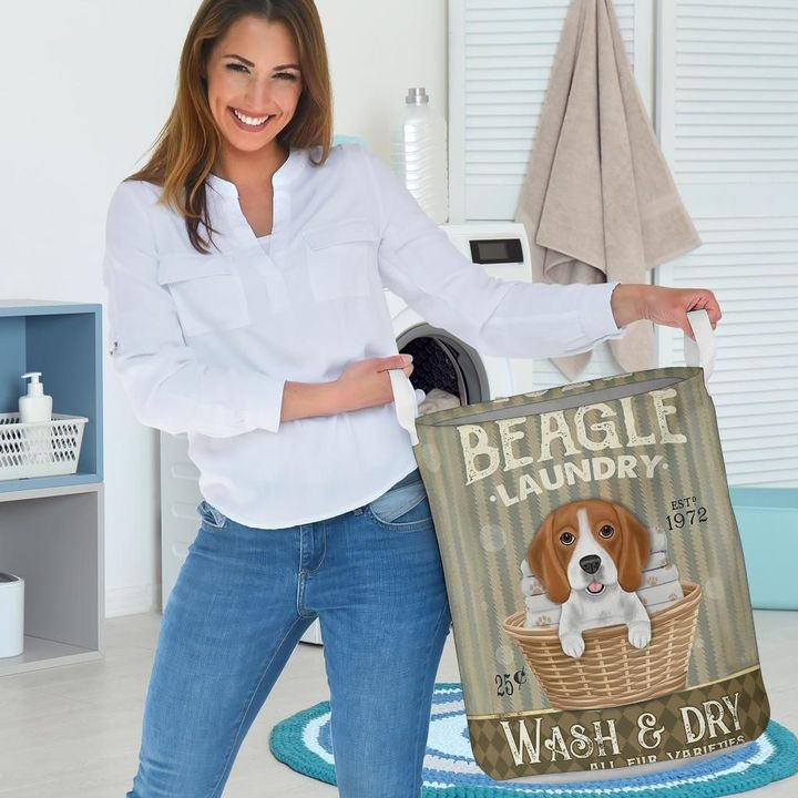 beagle wash and dry all over print laundry basket 3