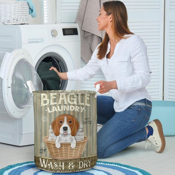 beagle wash and dry all over print laundry basket 4