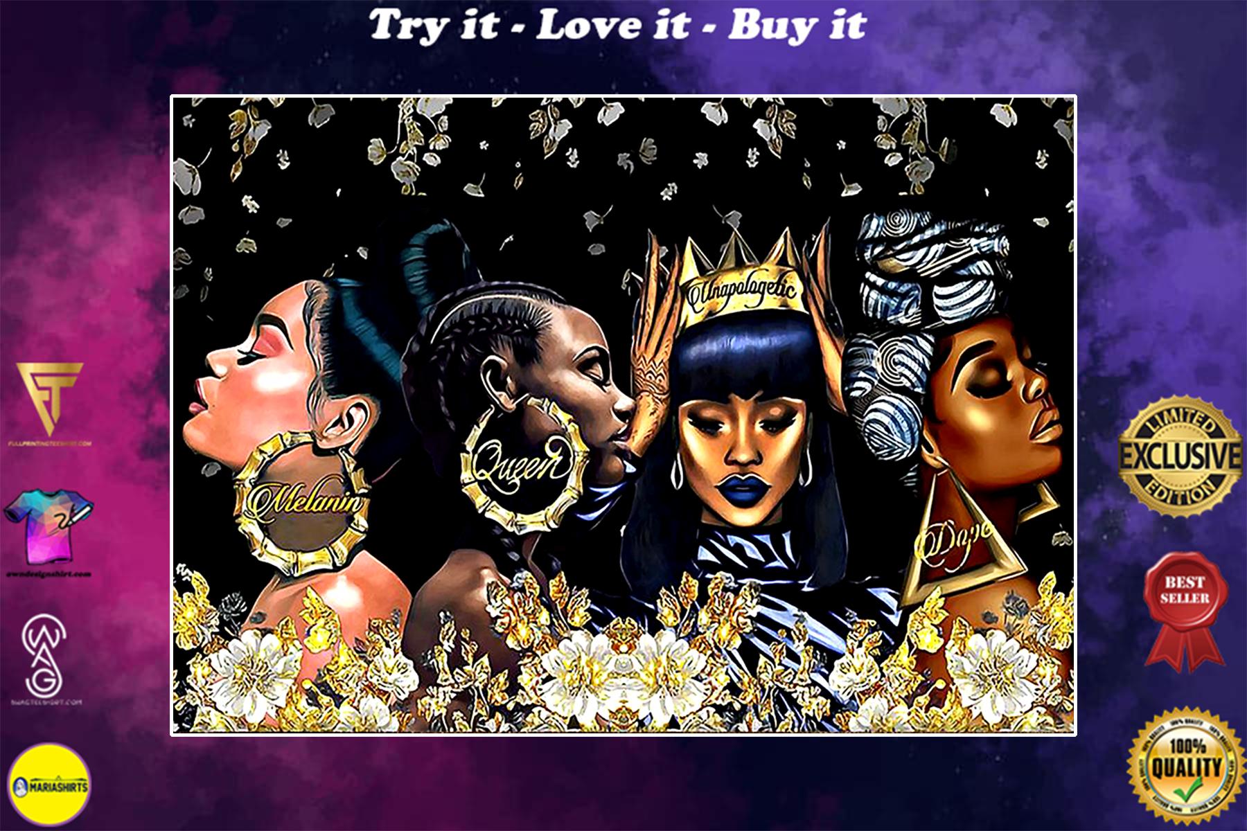beautiful black women melanin queen unapologetic dope poster