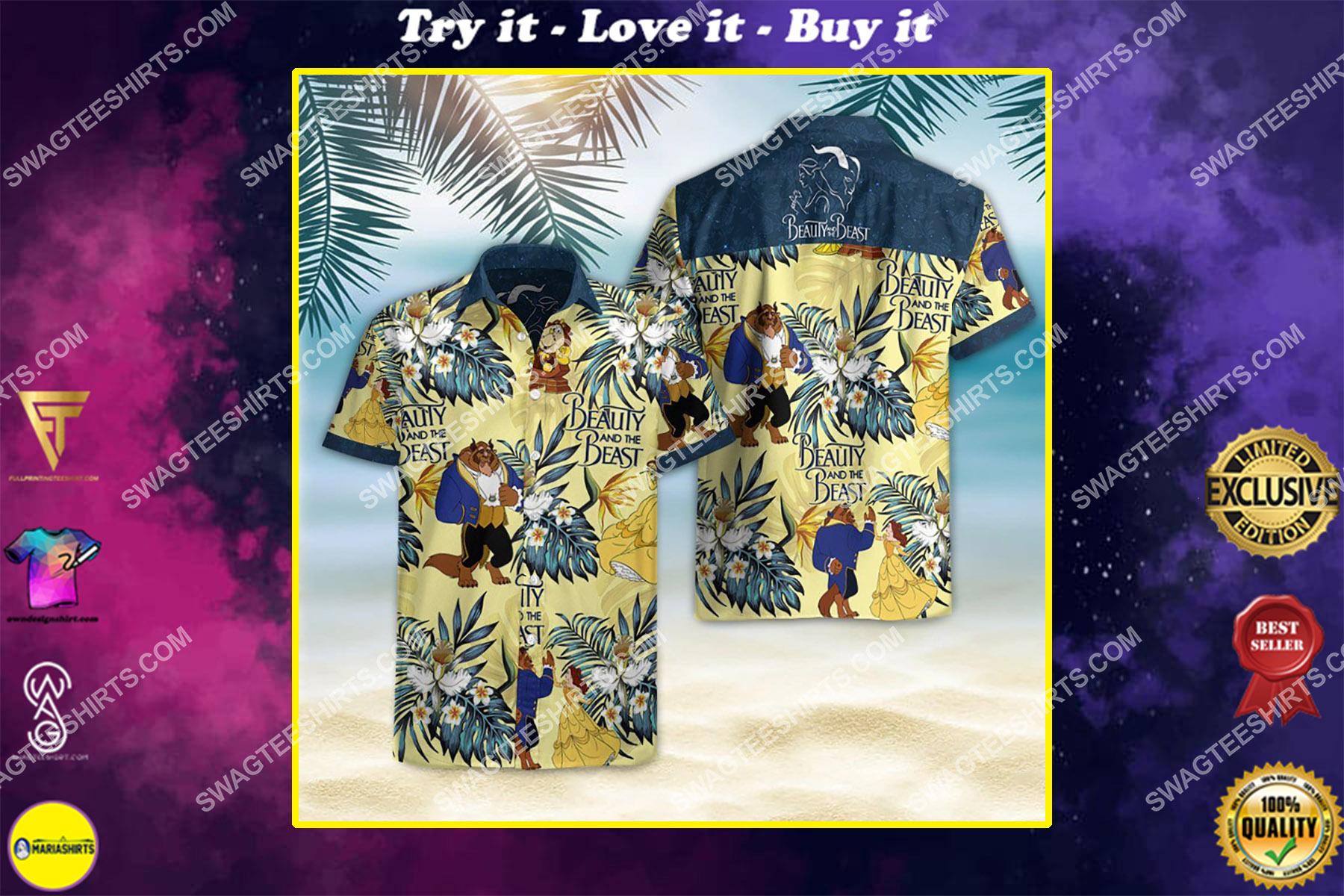 beauty and the beast movie hawaiian shirt
