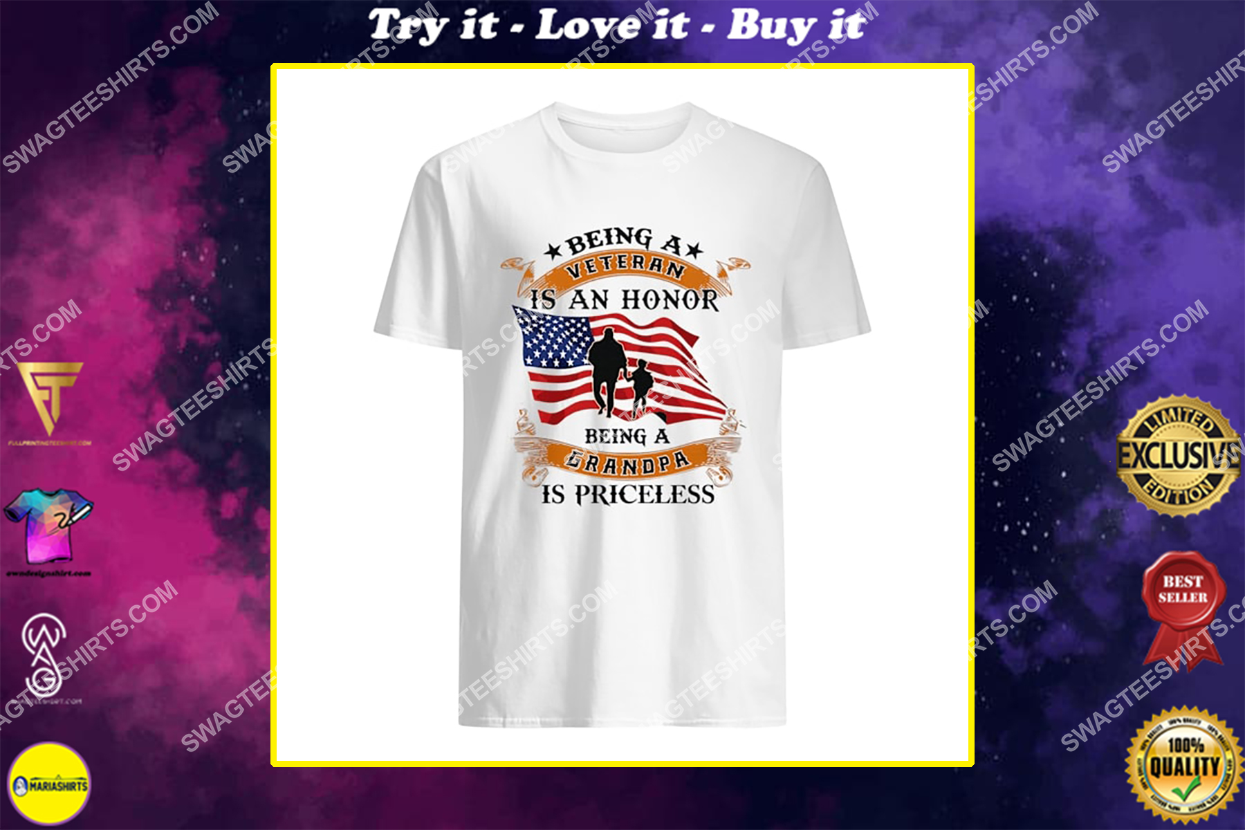 being a veteran is an honor being a grandpa is priceless for memorial day shirt