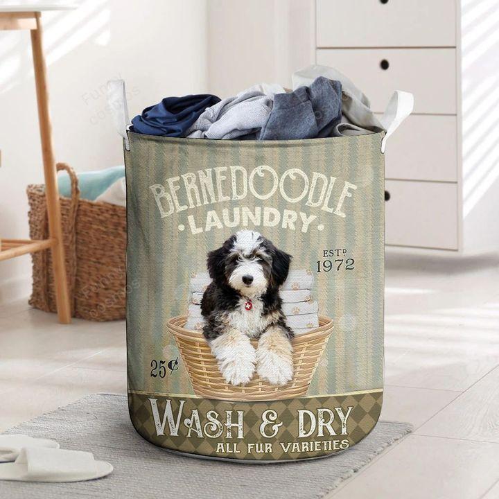 berned doodle all over print laundry basket 2