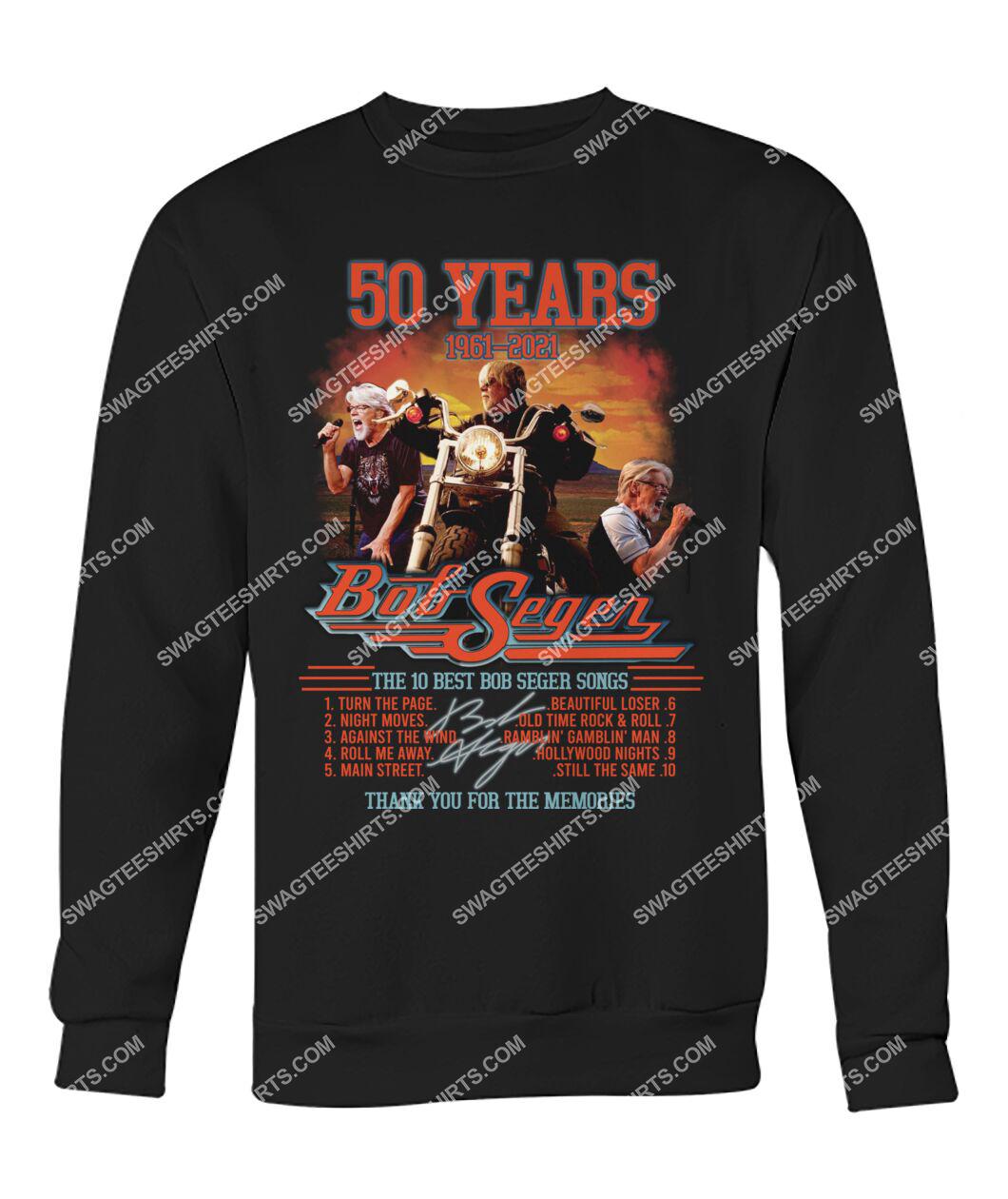 bob saget 50 years thank you for memories signature sweatshirt 1
