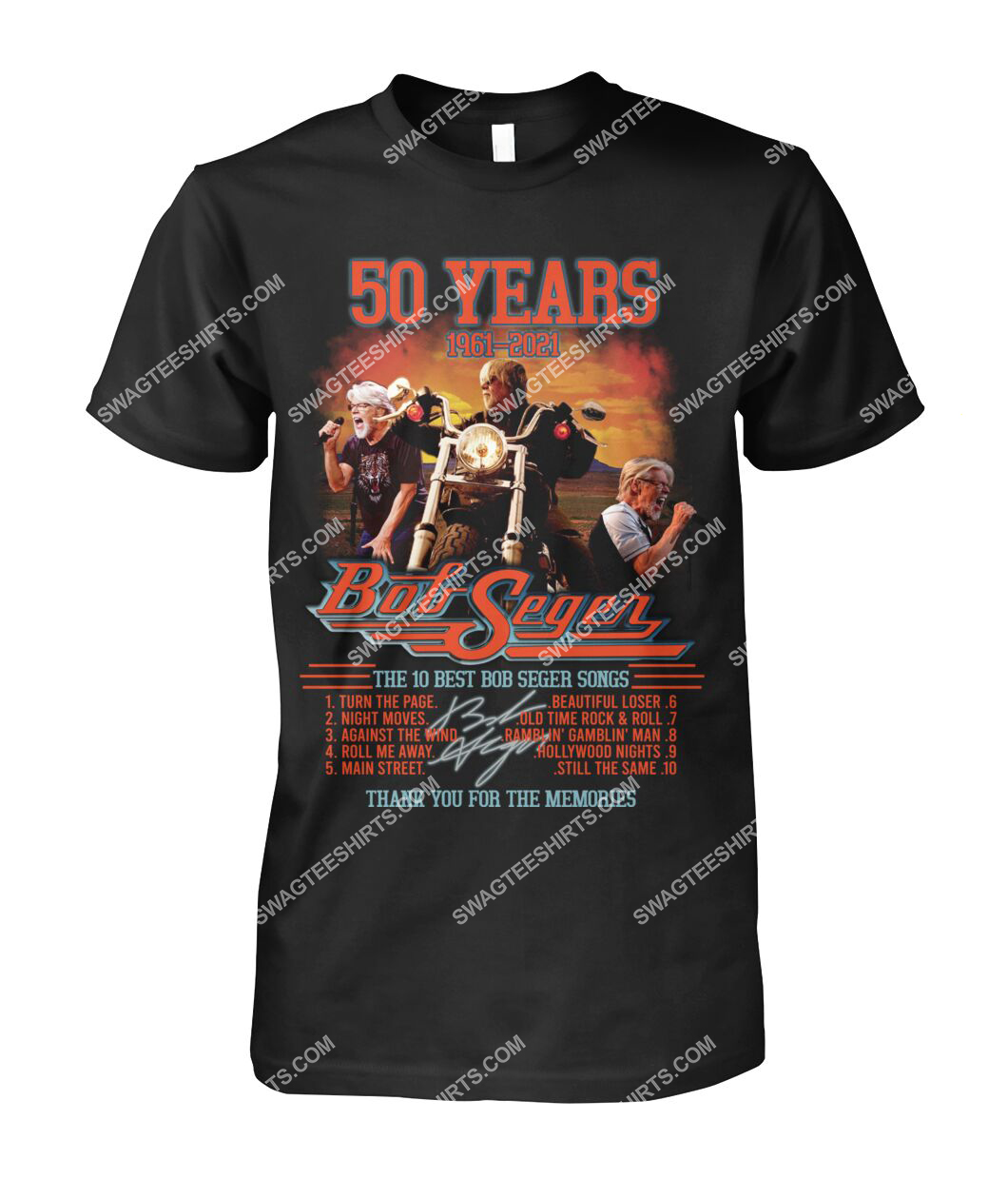 bob saget 50 years thank you for memories signature tshirt 1