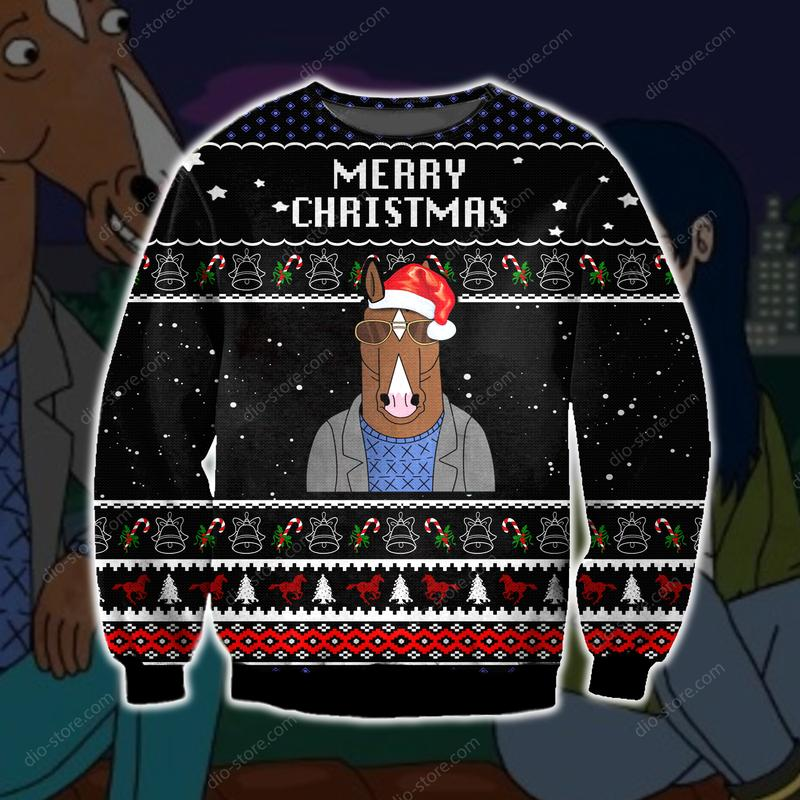 bojack horseman merry christmas ugly christmas sweater 2