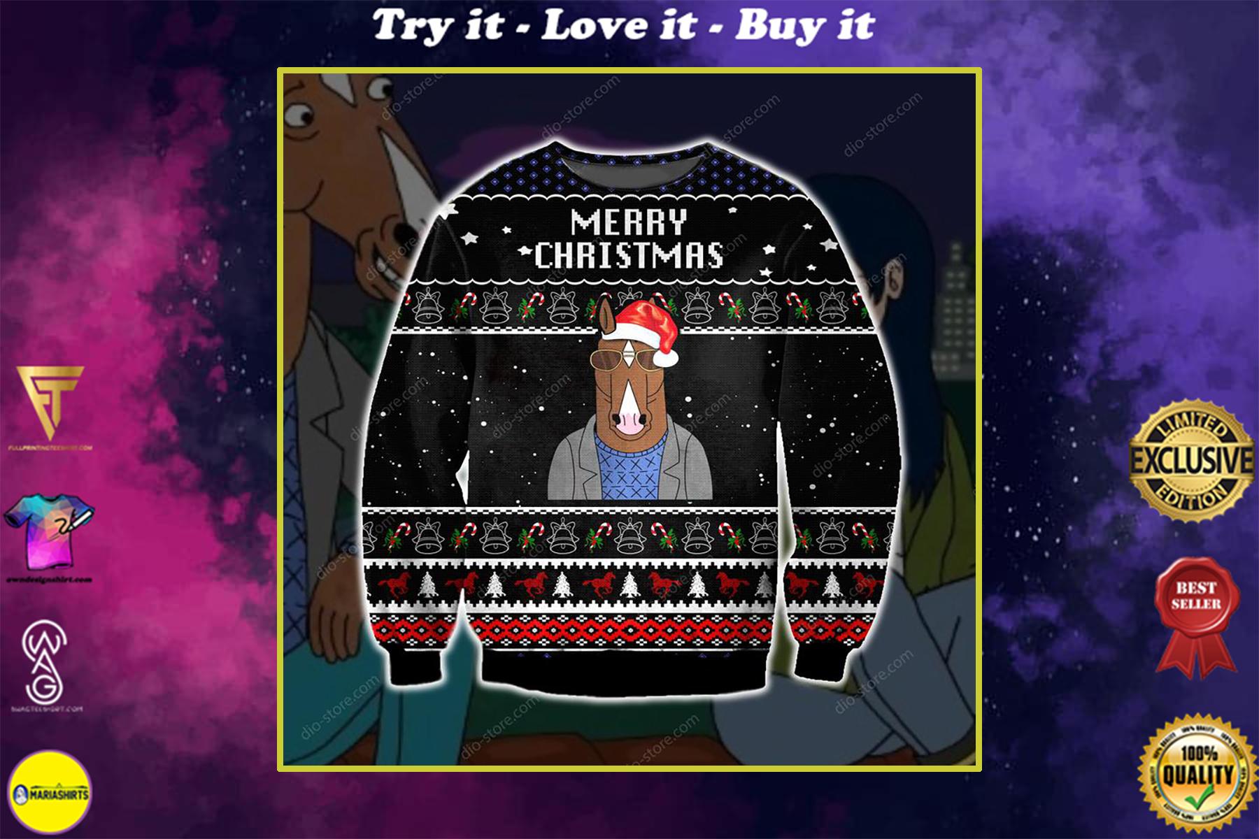 bojack horseman merry christmas ugly christmas sweater