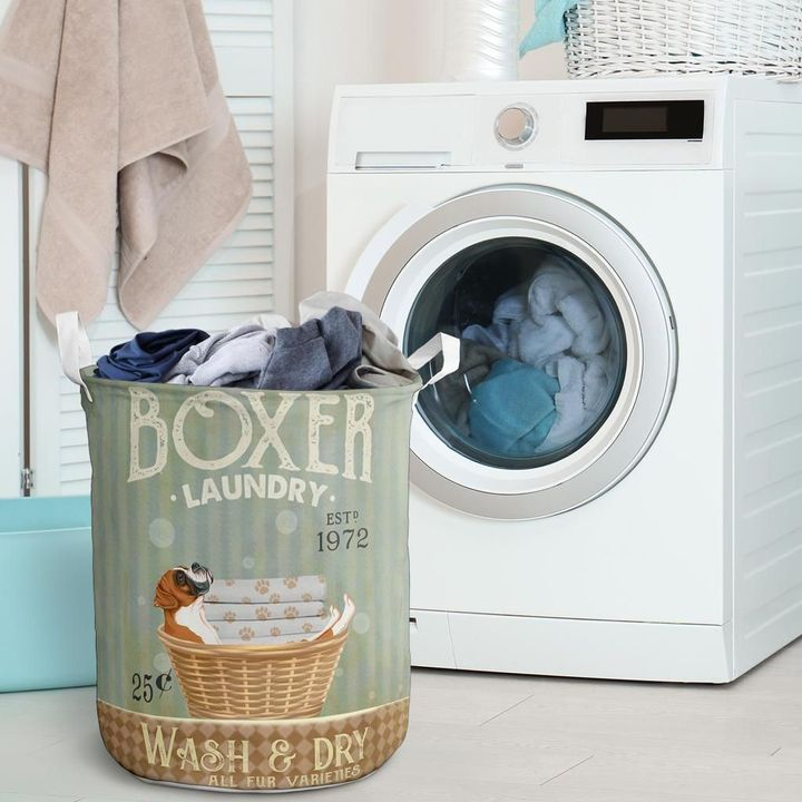 boxer wash and dry all over print laundry basket 2