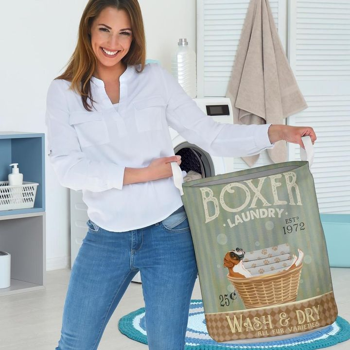 boxer wash and dry all over print laundry basket 3
