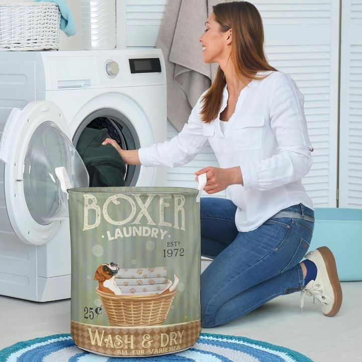 boxer wash and dry all over print laundry basket 4