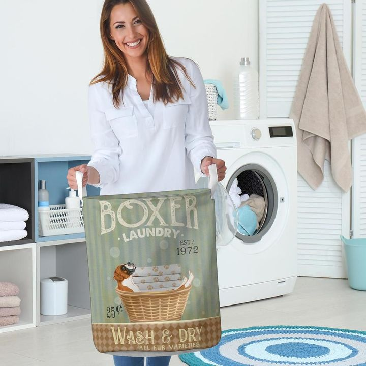 boxer wash and dry all over print laundry basket 5