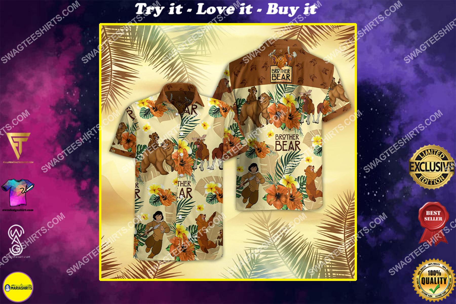 brother bear movie all over print hawaiian shirt