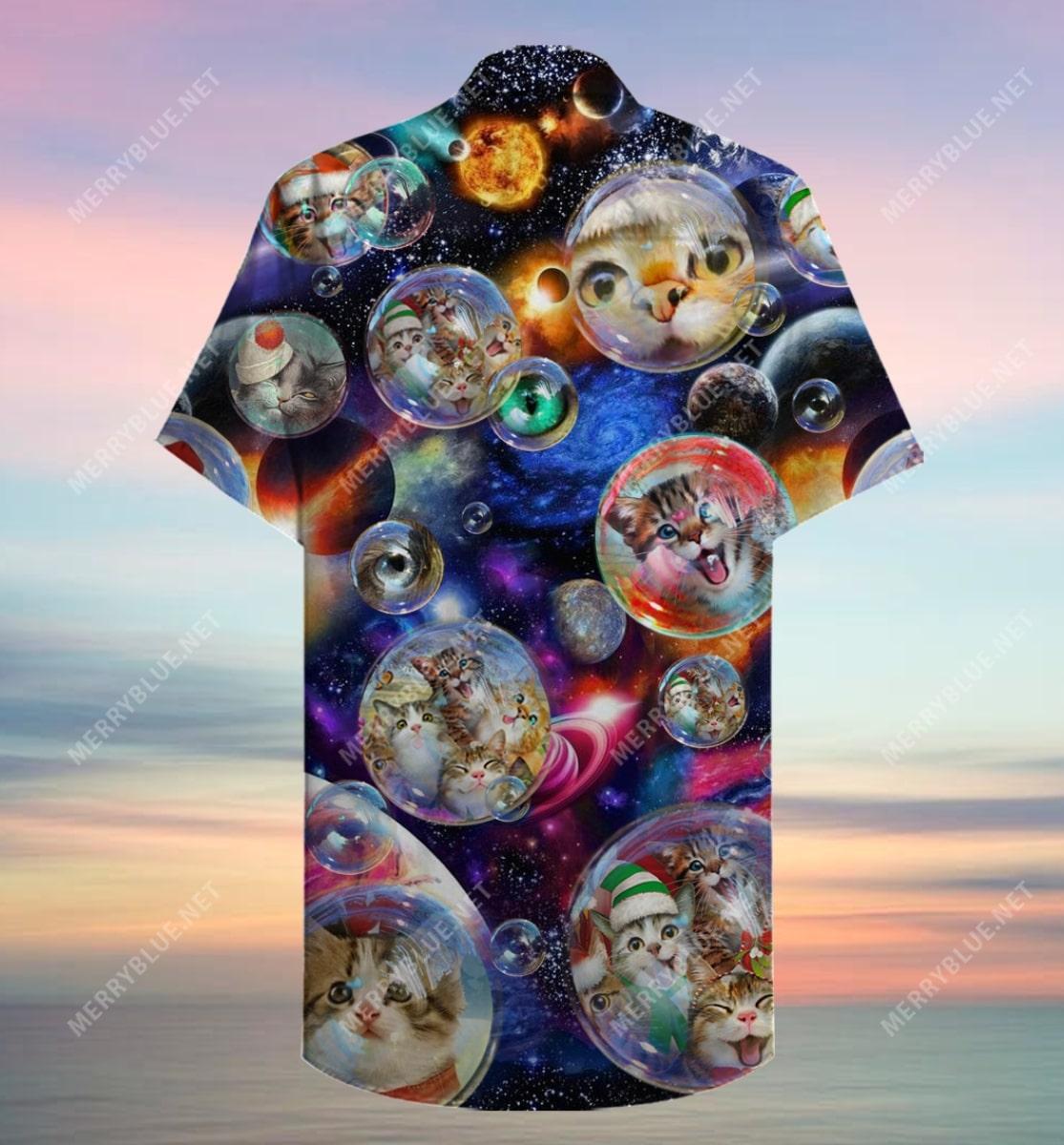 bubble cats all over printed hawaiian shirt 5