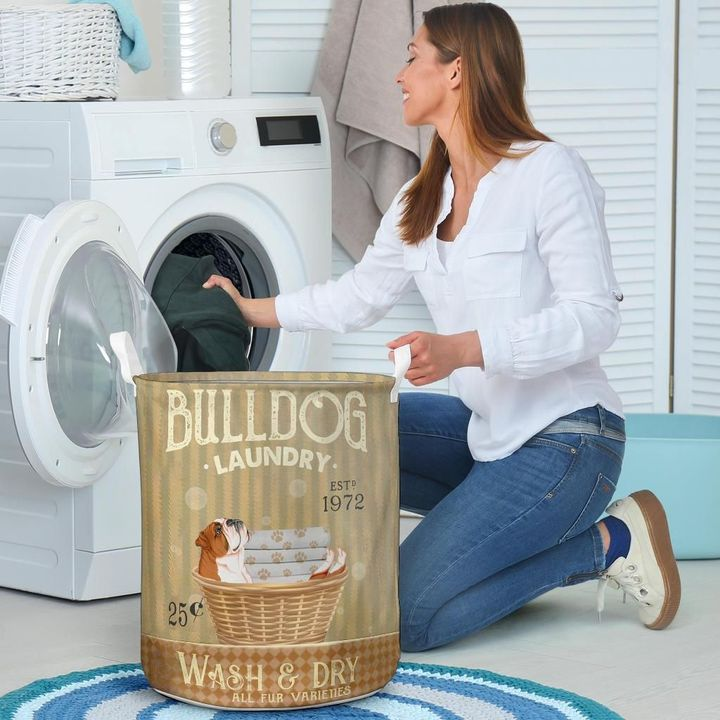 bull dog wash and dry all over print laundry basket 4