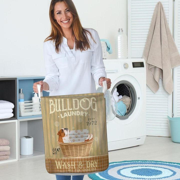 bull dog wash and dry all over print laundry basket 5