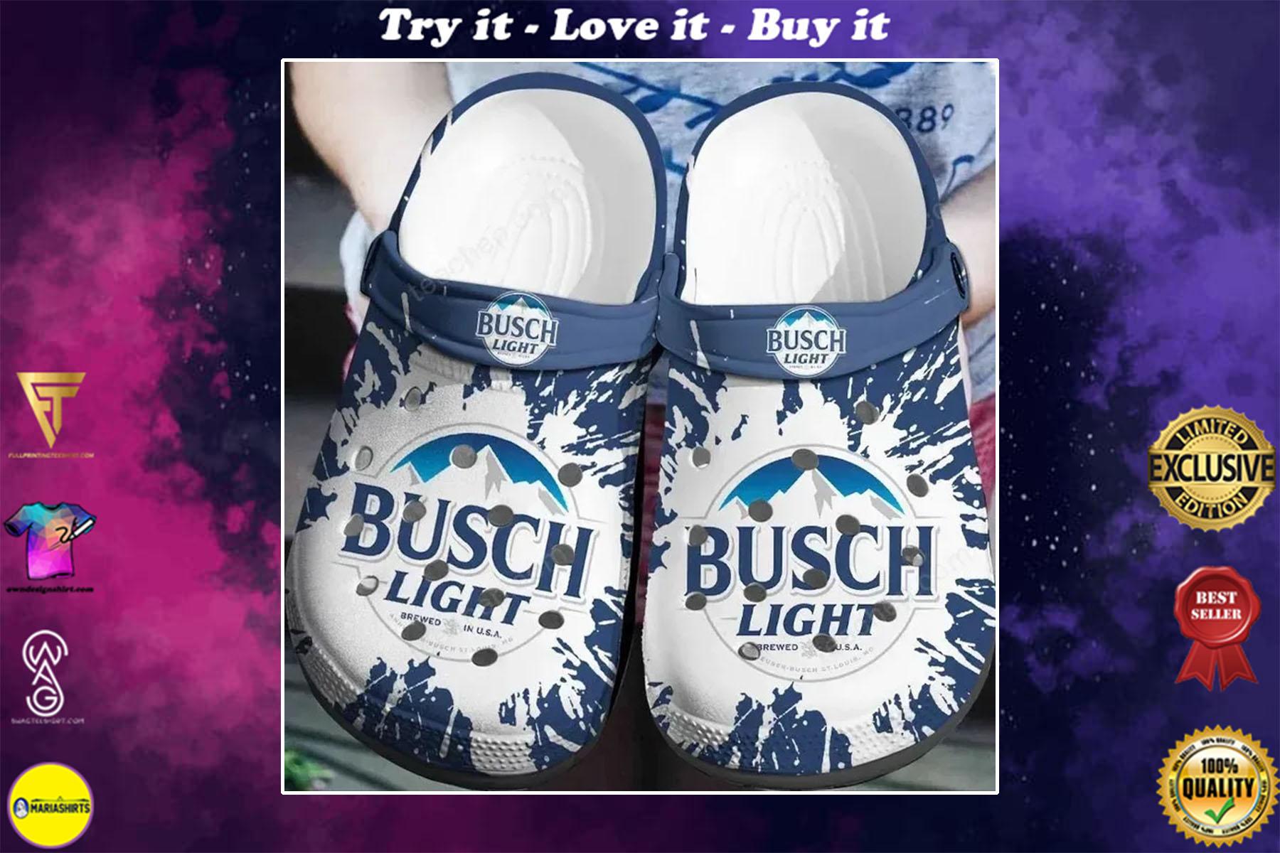 busch light beer crocband clog