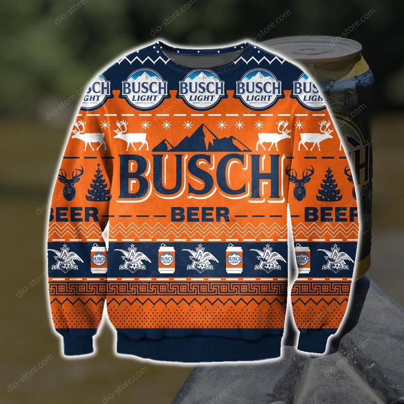 busch light busch beer full printing ugly christmas sweater 3