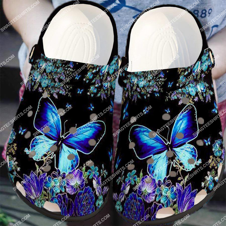butterfly night and flower all over printed crocs 2 - Copy