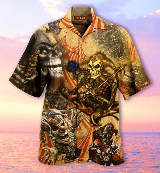 by blood a king in heart a clown all over printed hawaiian shirt 4